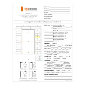 Hollow Metal Door Amp Frame Measuring Worksheets And Chart
