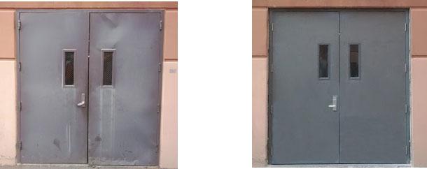 Metal Doors Installation : Steel double door installation
