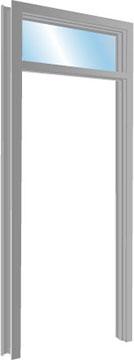 Hollow Metal Transom Frames