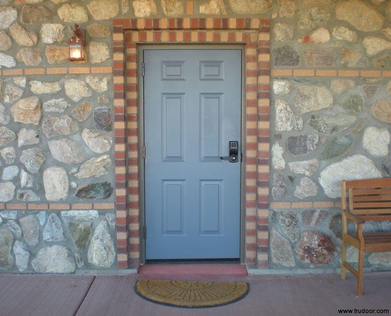 6 Panel Commercial Metal Doors Embossed Steel Doors