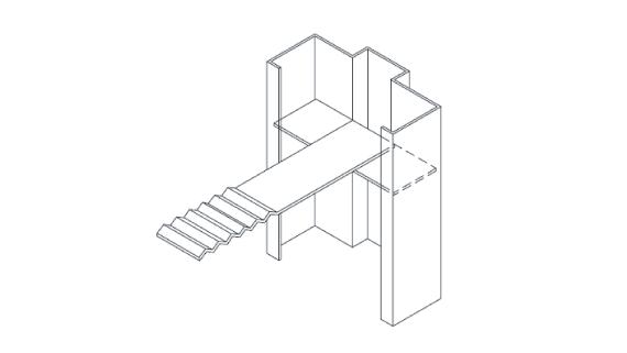 Hollow metal frame masonry t anchor