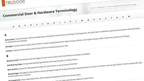 Door & Hardware Terminology