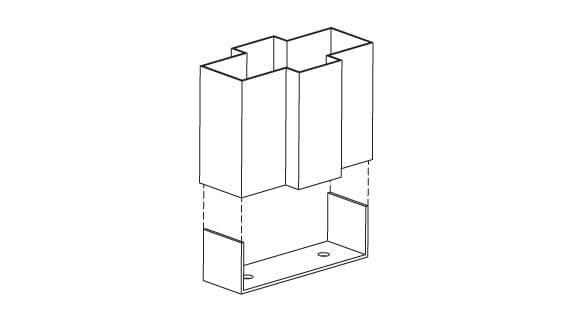 Hollow Metal Frame Mullion Base Anchor