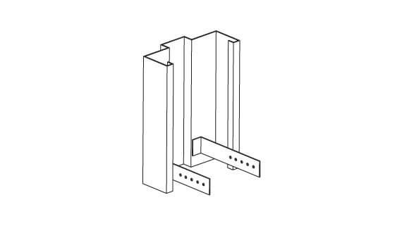 Hollow Metal Frame Strap Base Anchor