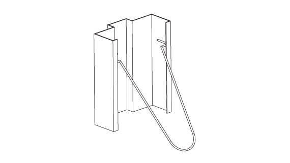 Hollow Metal Frame Masonry Wire Anchor