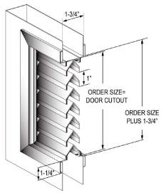 Custom Sizes Available Upon Request. Standard Louver Specifications