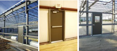 Metal Building Doors Preassembled Steel Walk Doors
