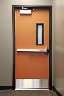 Fire Rated Commercial Steel Doors Metal Fire Doors