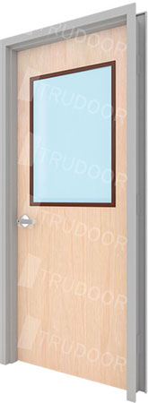 Commercial Wood Doors with Glass Lite Kits