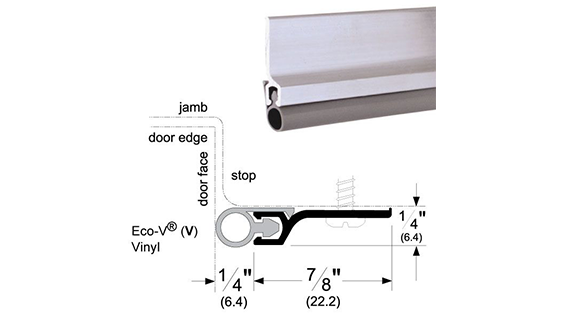 Screw-on Jamb Weatherstrip