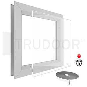 Door Vision Lite with Pyran Fire-Rated Glass