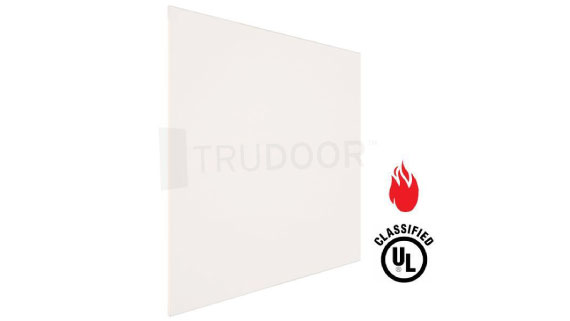 Fire-Rated Ceramic Glass for Metal Doors