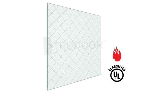 Fire-Rated Wired Glass for Metal Doors