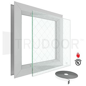 Door Vision Lite with Protect3 Fire-Rated Wire Glass