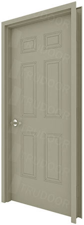 6-Panel Commercial Metal Door