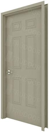 Merveilleux 6 Panel Commercial Metal Doors, Embossed Steel Doors