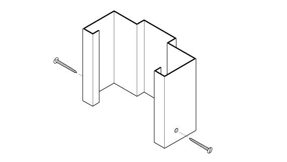 Hollow Metal Drywall Frame Face Dimbled Base Anchor