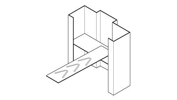 Hollow Metal Frame Masonry T-Anchor