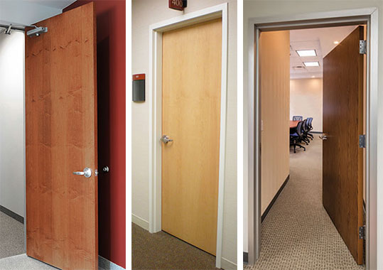 Prefinished Solid Core Commercial Wood Doors