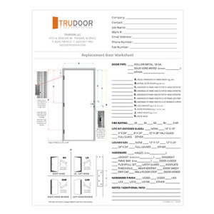 Commercial Door Replacement Door Worksheet