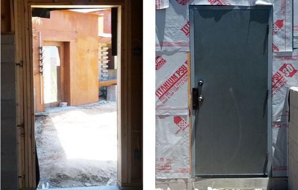 Garage man door installation for Garage man door