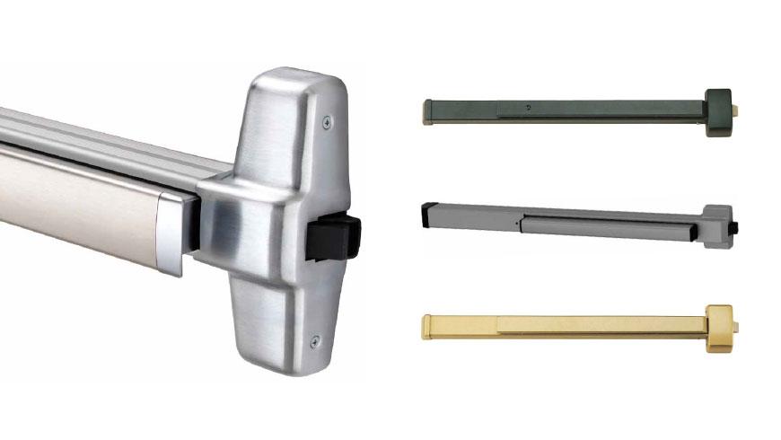 Panic bar door hardware exit devices for Exterior panic hardware