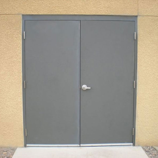 Double Steel Doors : Flush commercial hollow metal doors industrial steel