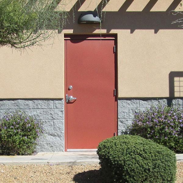 Flush commercial hollow metal doors industrial steel