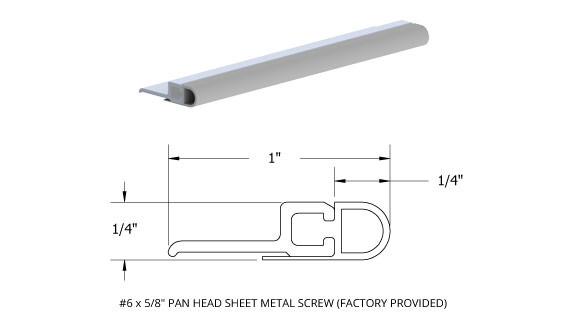Screw-on Jamb Weatherstrip  sc 1 st  Trudoor & Commercial Door Weatherization - Thresholds Weatherstrip Sweeps