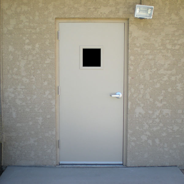 Commercial Steel Entry Doors : Commercial metal doors with steel lite kit and glass