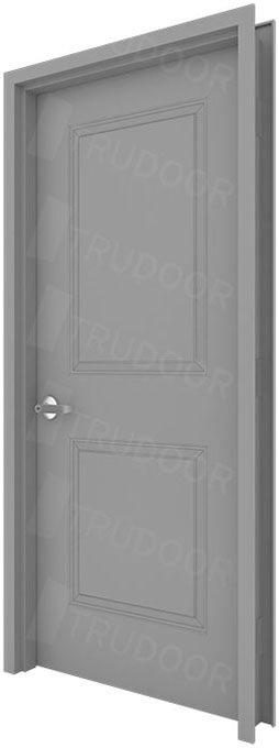 2 Panel Commercial Metal Doors Embossed Steel Doors
