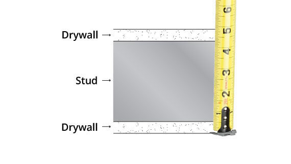 drywall thickness exterior wall. measure wall thickness for door jambs. hollow metal drywall frame exterior e