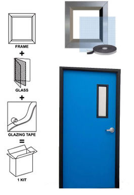 door window lite kits with glass - Window Frame Kit