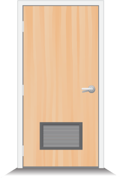 Commercial Wood Doors With Louver Vents