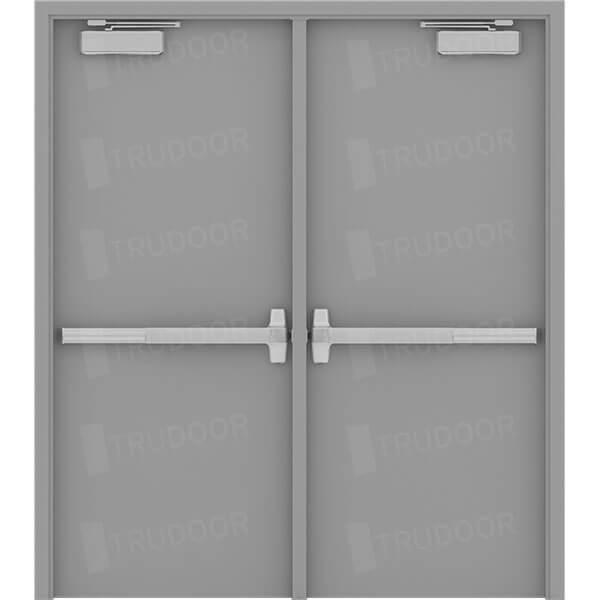 Hollow Metal Door : Commercial steel double doors hollow metal door pair