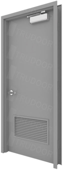 Hollow Metal Door with Louver