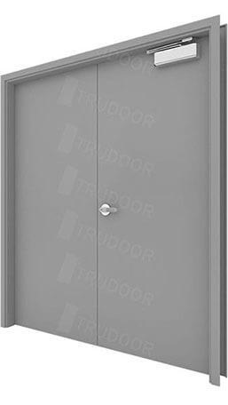Pairs of Hollow Metal Doors  sc 1 st  Trudoor & Commercial Steel Double Doors | Hollow Metal Door Pair