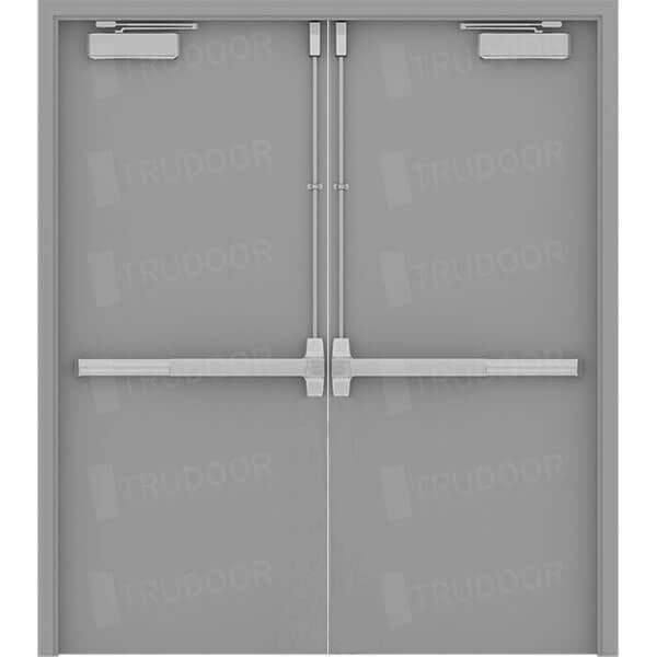 Commercial Metal Door Pricing : Commercial steel double doors hollow metal door pair