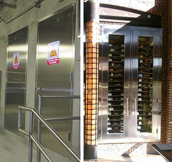 & Stainless Steel Doors