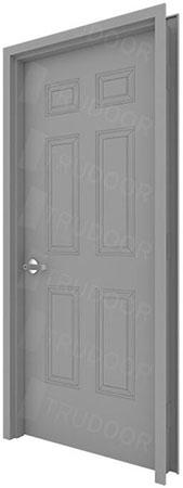 6 Panel Commercial Metal Door